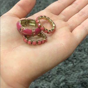 Jewelry - 3 pink rings *bundle*